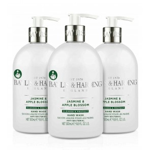 3 x Baylis & Harding Antibacterial Luxury Wash Jasmine & Apple Blossom