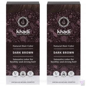 Khadi Herbal Hair Colour Dark Brown Twin Pack