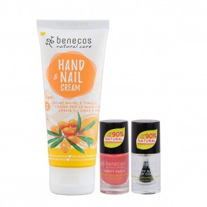 Benecos Hand & Nail Cream with Nail Polish Set