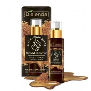 Bielenda Black Sugar Detoxifying Moisturising Serum Combination Oily Skin