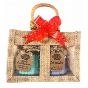 Lavender - Apple & Cinnamon Candles Bag Set