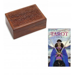 Wooden Sheesham Box & Caselli Tarot Card Set