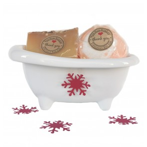 Ceramic Orange & Cinnamon Detox Bath Gift Set