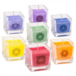 Seven Chakra Eco Rapeseed Scented Candles Set