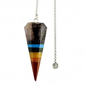 Chakra Layer Faceted Cone Pendulum