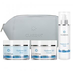 Clarena Hyaluronic Set 3D Skincare Set Cosmetic Bag