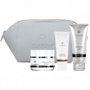 Clarena Mens Line Power Hydro Cream & Hand Cream Set