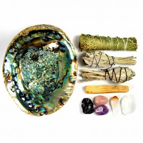 House Blessing Crystal & Smudge Set Kit