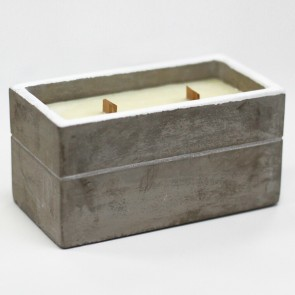 Aromatherapy Wooden Wicks Concrete Square Candle