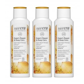 3 x Lavera Hair Deep Care & Repair 2in1 Shampoo