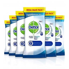 20 x Dettol Anti-Bacterial Surface Wipes 30 x Pack