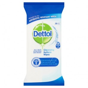 Dettol Anti-Bacterial Surface Wipes x 30 Wipes