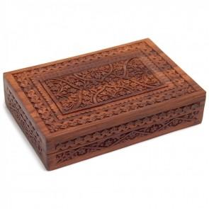 Double Oracle Tarot Card Box Sheesham Wood