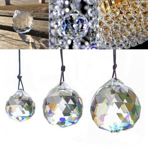 Feng Shui Hanging Crystal Sphere Faceted Sun Catcher Healing Charged