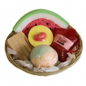 Fruity Bath Wicker Basket Gift Set