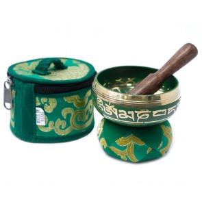 Green Tibetan Singing Bowl Set