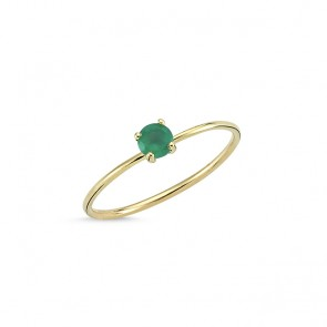 Iconic Green Agate Ring 14ct Gold