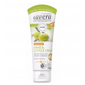 Lavera 2-in-1 Hand & Cuticle Cream with Organic Olive Oil & Camomile
