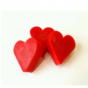 Heart Shaped Raspberry Scented Soaps