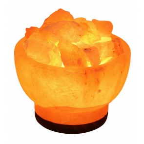 Fire Bowl Natural Himalayan Salt Lamp Pink Rock Crystal