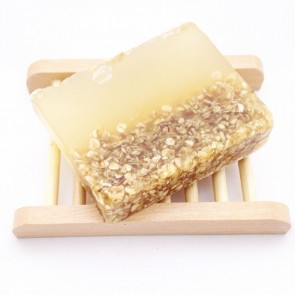 Honey & Oatmeal Handmade Soap & Wooden Dish Set