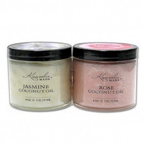 Kuumba Made Jasmine & Rose Coconut Oil Duo Set