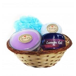 Lavender Bath Basket Gift Set