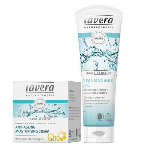 2 x Lavera Basis Sensitive Cleanse & Moisturise Set