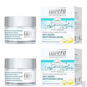 2 x Lavera Basis Anti Ageing Moisturiser Cream with Q10