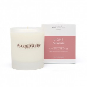 Aromaworks Light Range Amyris & Orange Candle 30cl Medium