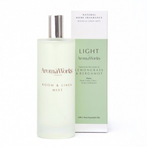 Aromaworks Light Range Lemongrass & Bergamot Room Mist