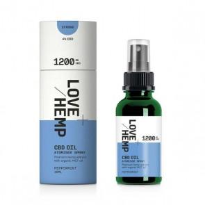 Love Hemp Oil Liquid Drops Peppermint 30ml