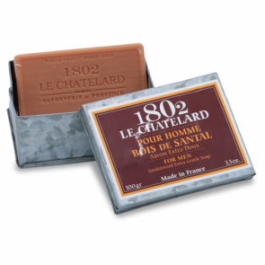 Le Chatelard 1802 Savon de Marseille Men's Sandalwood Metal Box Set