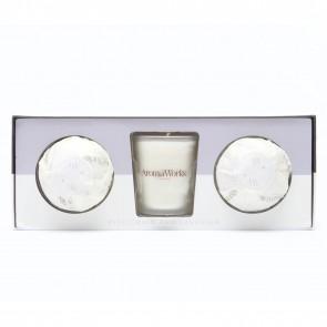 Aromaworks Light Range Petitgrain & Lavender Candle Mini AromaBomb Gift Set