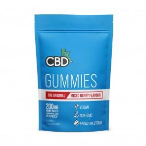 Hemp Gummies - Original Mixed Berry Flavour 200mg 8 gummies
