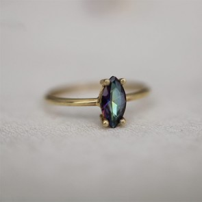 Ana Dyla Sauvage Mystic Topaz Ring 14ct Gold