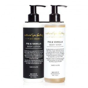 Natural Spa Factory Fig & Vanilla Body Wash & Lotion Set