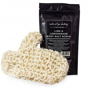 Natural Spa Factory Lime & Lemongrass Body Scrub & Sisal Mitt