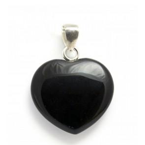 Black Obsidian Heart Pendant