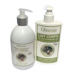 Oléanat Organic Donkey Milk Soap & Body Milk Duo