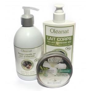 Oléanat Organic Donkey Milk & Jasmin Body Trio