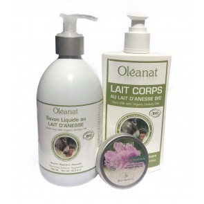 Oléanat Organic Donkey Milk & Rose Body Trio