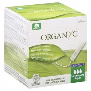 Organyc Compact Tampons Super with Applicator Organic Cotton
