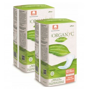2 x Organyc Maternity Pads 100% Cotton