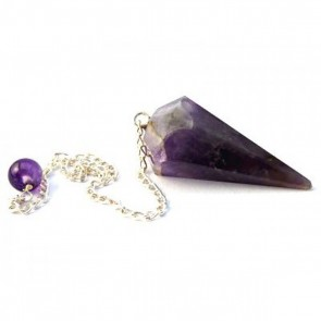 Amethyst Faceted Cone Pendulum