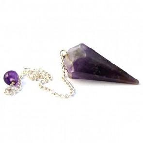 Amethyst Faceted Cone Pendulum