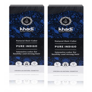 2 x Khadi Herbal Hair Colour Pure Indigo Blue Black