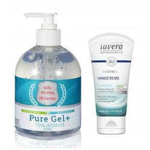Pure Gel Antibacterial Gel & Lavera Intensive Hand Cream