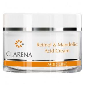 Clarena Acid Line Retinol and Mandelic Acid Anti Wrinkle Brightening Night Cream