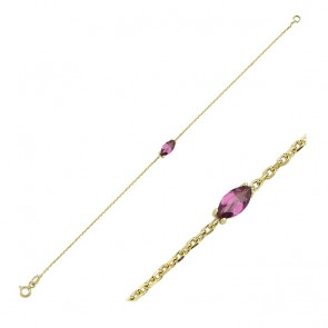 Fierce Rhodolite Bracelet 14ct Gold